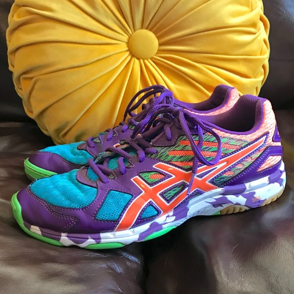Asics Shoes - ASICS Gel Flashpoint 2 Volleyball Shoes colorful